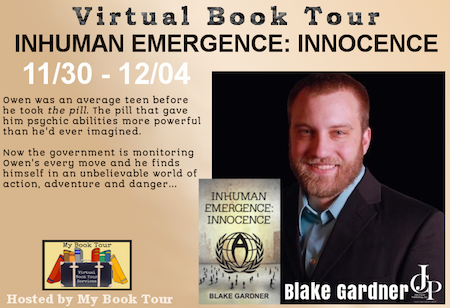 Inhuman Emergence - Innocence by Blake Gardner Book Tour Banner