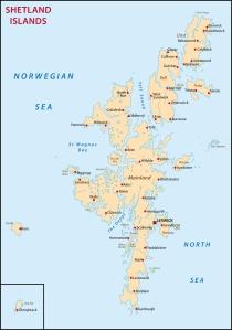 Shetland Isles ~ click to enlarge map