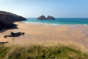 Holywell Bay Cornwall England UK near Newquay in spring