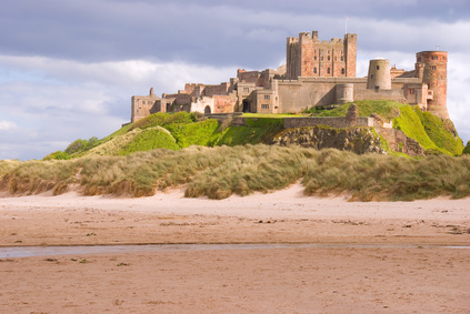 Bamburgh Castle overlooking the beach