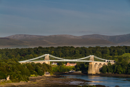 Menai Bridge, connecting Snowdonia and Anglesey