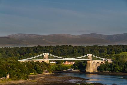 Menai Bridge, connecting Snowdonia and Anglesey