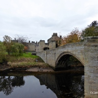 #WordlessWednesday ~ 14th Century #Warkworth Bridge and the Coquet river
