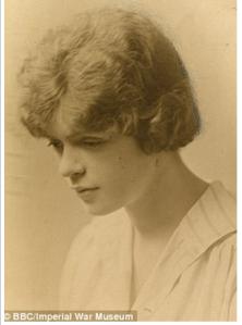 Under age munitions worker Mabel Lethbridge