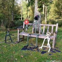#WordlessWednesday ~ Fun Garden Sculptures