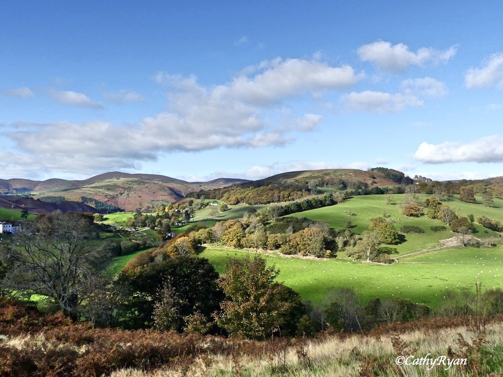 A Sunny Day Hike up the hill to Castell Dinas Bran (or Crow Castle in English) #Photography