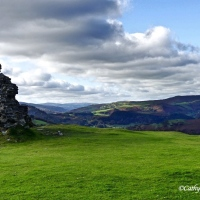 Reaching the Top of the world (or so it seemed) ~ Dinas Bran #Photography