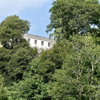 #SilentSunday ~ A glimpse of Agatha Christie's house through the trees #AgathaChristie