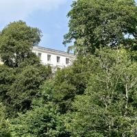 #SilentSunday ~ A glimpse of Agatha Christie's house through the trees #AgathaChristie