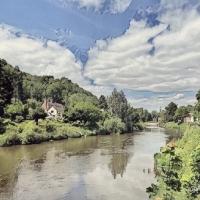 #WordlessWednesday ~ Digital Art #River #Landscape