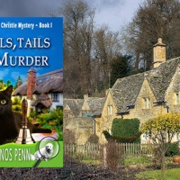 Bells, Tails & Murder: A Dickens & Christie Mystery Book 1 by @KathyManosPenn #CosyMystery set in the Cotswolds #RBRT #TuesdayBookBlog